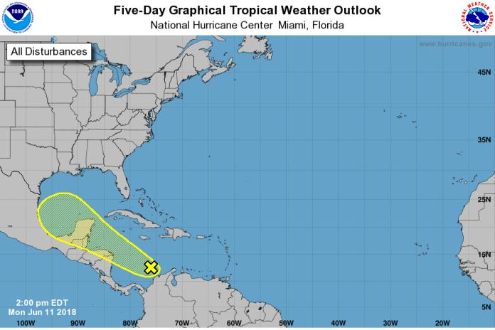 Tropical disturbance to bring heavy rainfall to parts of Central America