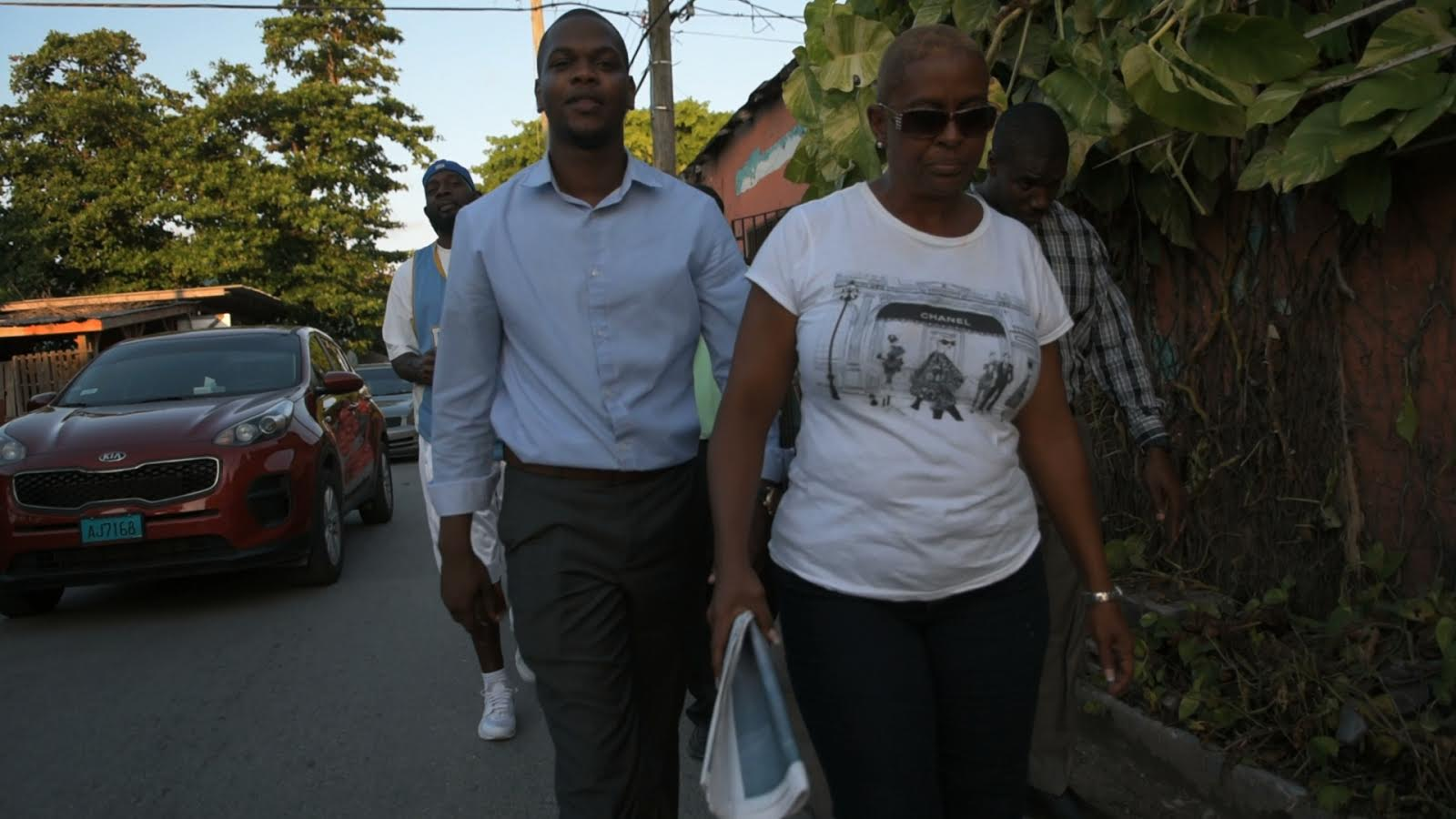 Robinson leads community walkabout after firing