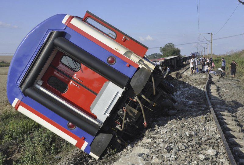 24 killed in train derailment after heavy rains in Turkey