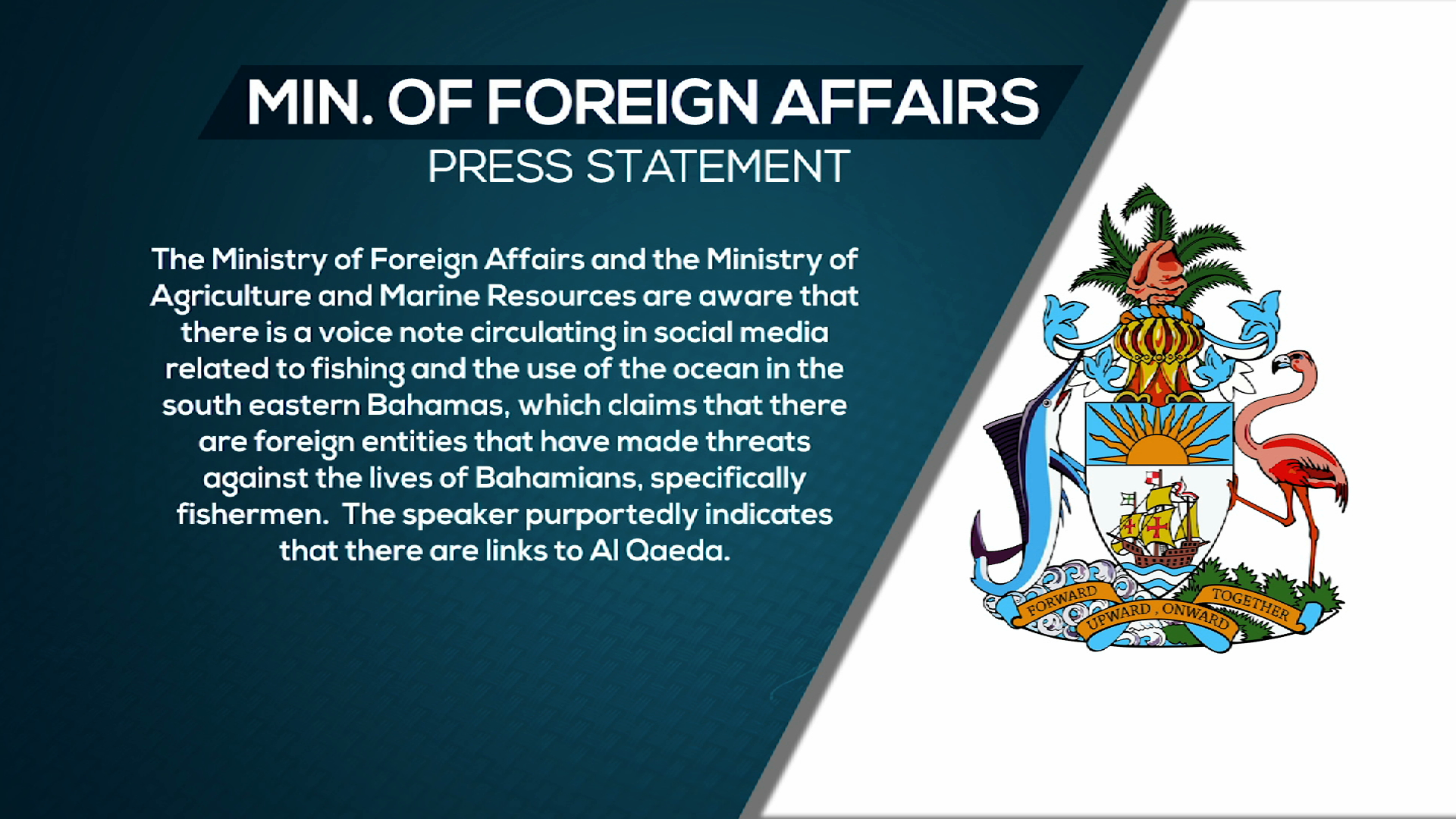 Min. of Foreign Affairs cautions Bahamians amid alleged threats