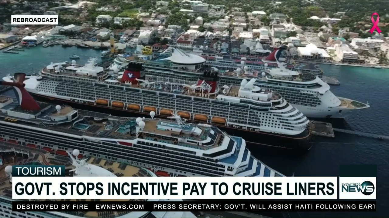 Gov't will discontinue incentive payments to cruise liners