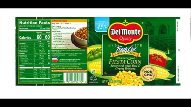 Canned Del Monte Fiesta Corn recalled