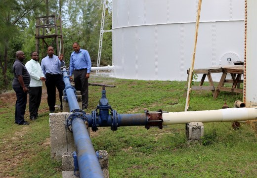 Officials view water storage facility on Eleuthera