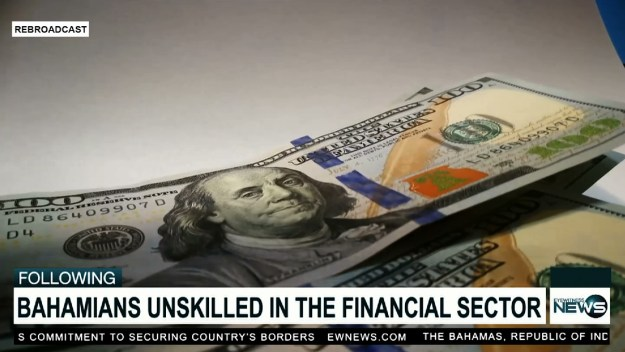 Highest paying jobs in financial services held by non-Bahamians