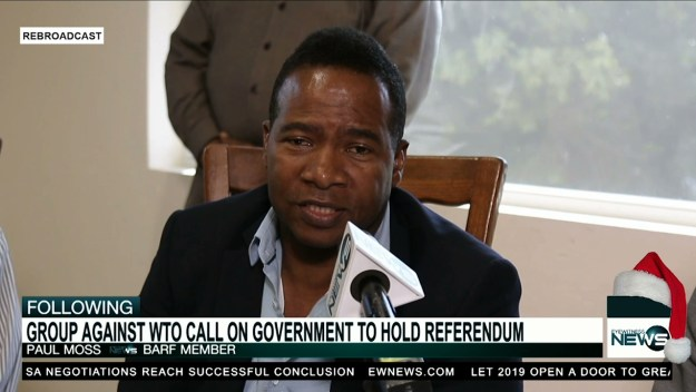 Bahamians against WTO accession