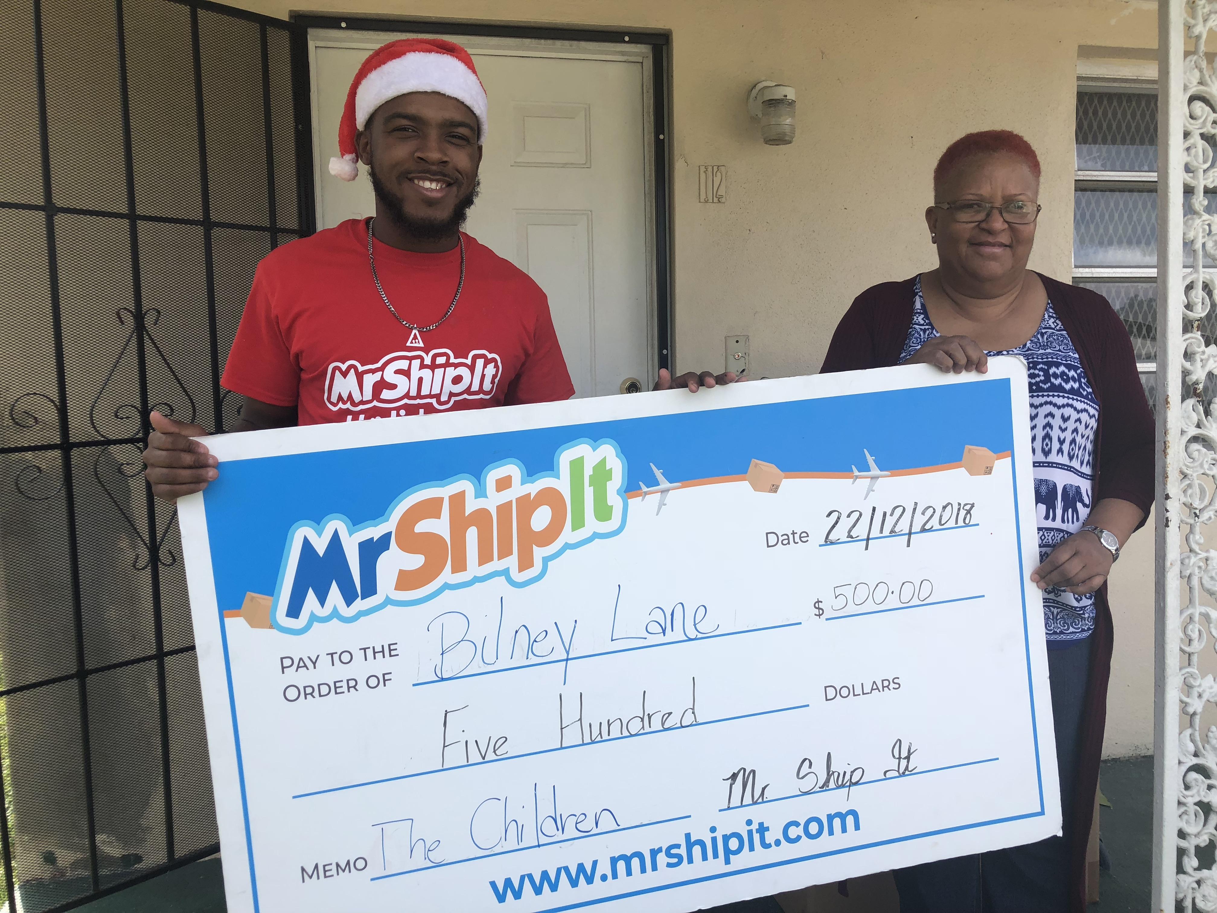 Mr. Ship It gives back
