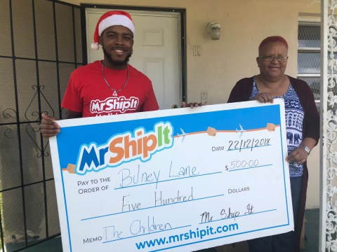 Mr. Ship It gives back