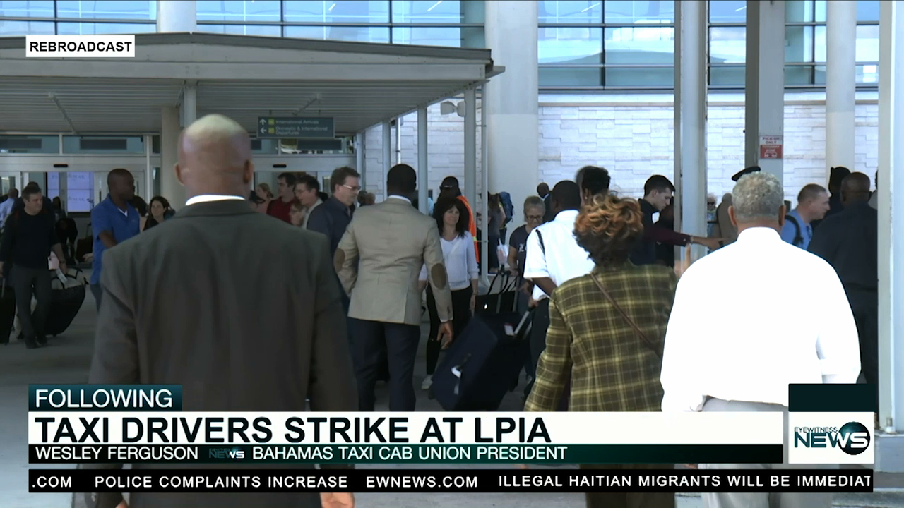 Taxi drivers stage sit-out at LPIA