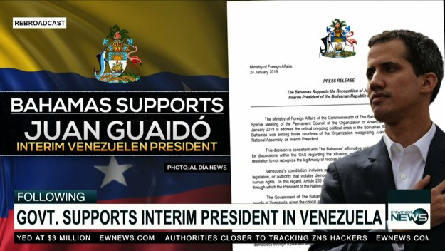 The Bahamas supports recognition of Juan Guaidó as Interim President of Venezuela