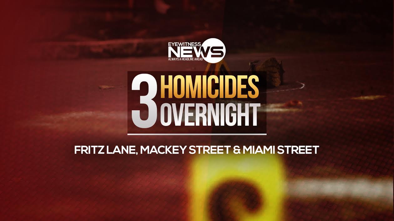 3 homicides overnight