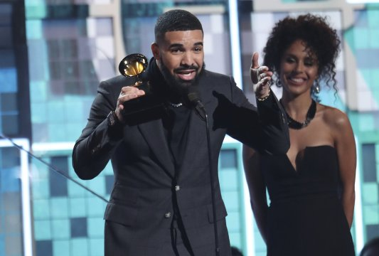 Drake wins rap song Grammy, Childish Gambino makes history