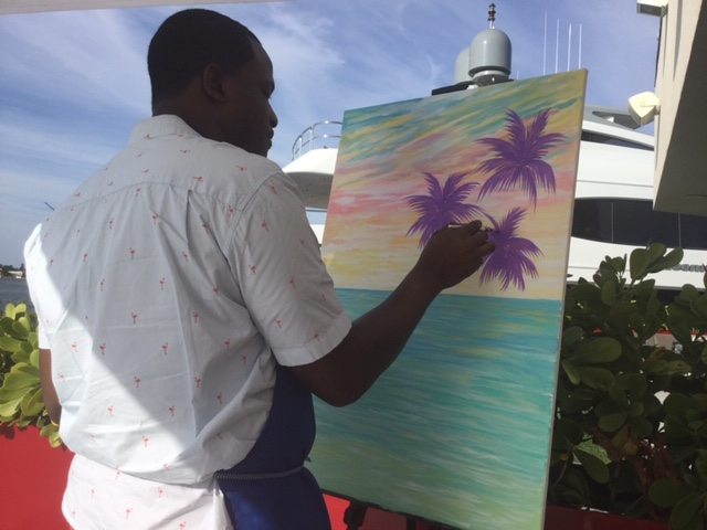 Artist Jamal Rolle showcases newest art form at Fort Lauderdale show