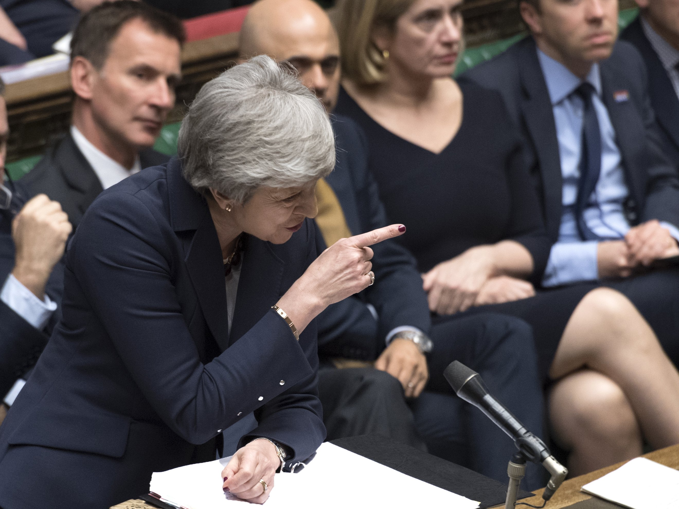 Prime Minister May says she'll step down if Brexit deal OK'd