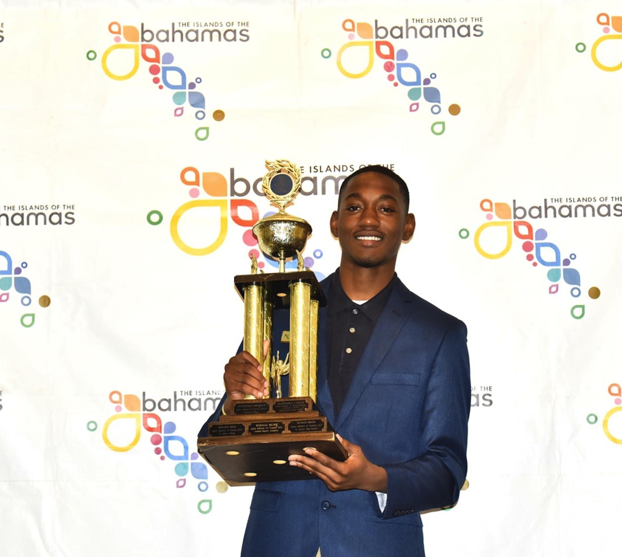 Denardo McDonald wins Junior Minister of Tourism speech competition