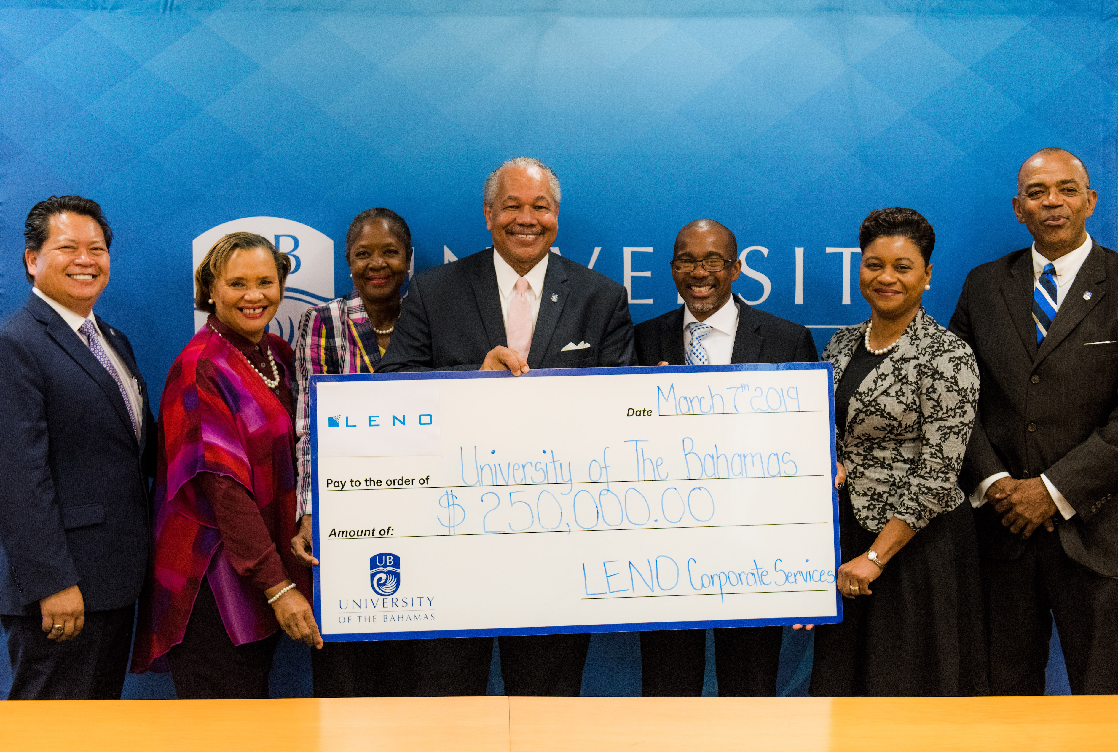 LENO signs $250,000 MOU for endowed scholarships at UB