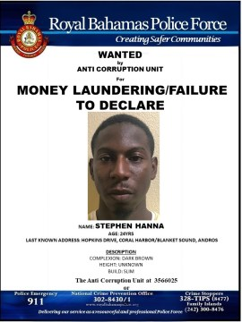 WANTED for money laundering