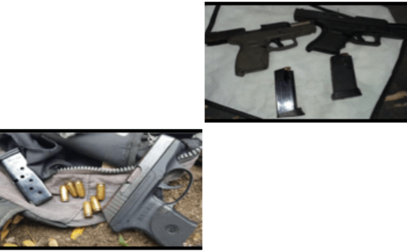 Illegal firearms recovered, two arrested