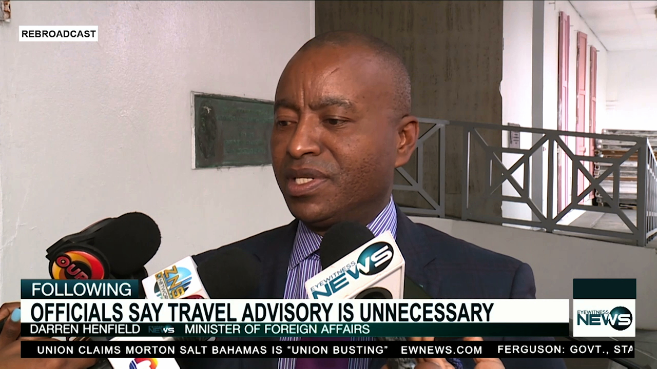 Henfield: Travel advisory to the US will not be issued