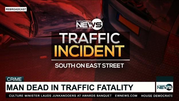 Male dies in traffic fatality