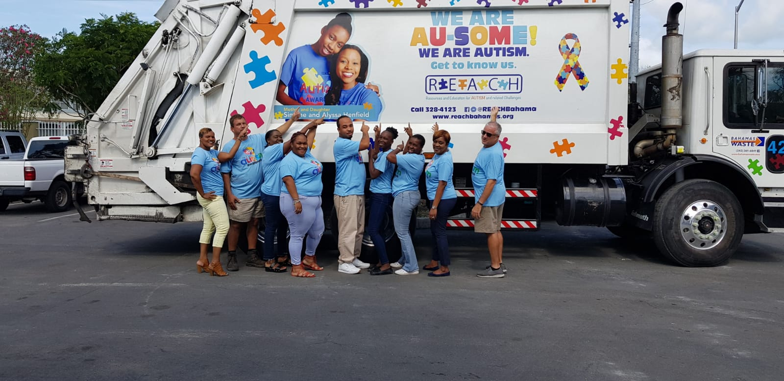 Bahamas Waste continues their support of autism awareness