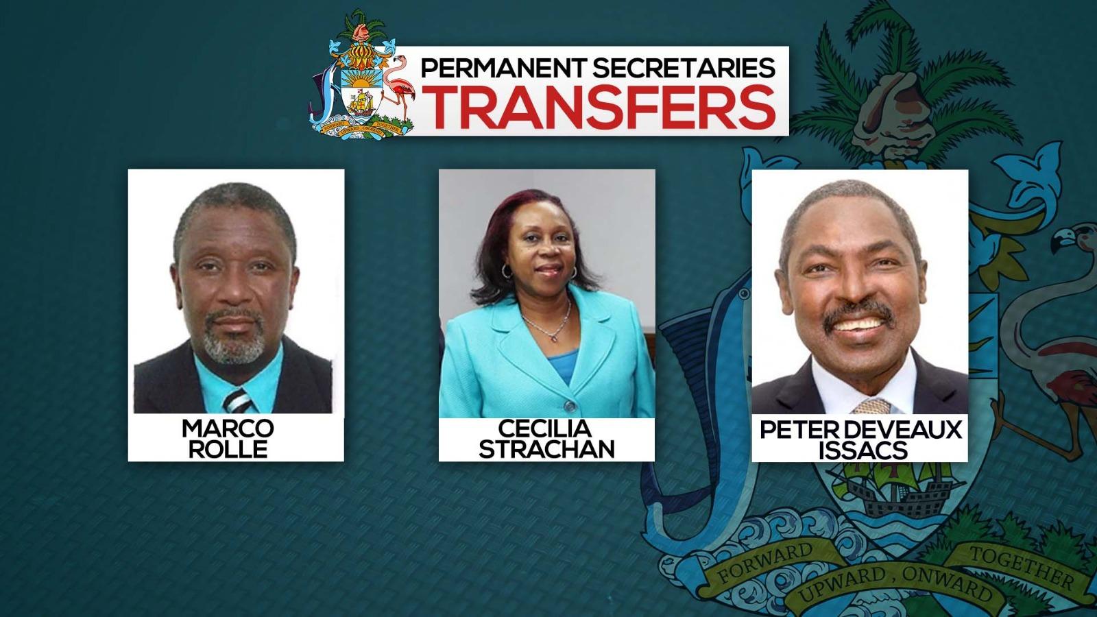 Permanent Secretaries transferred
