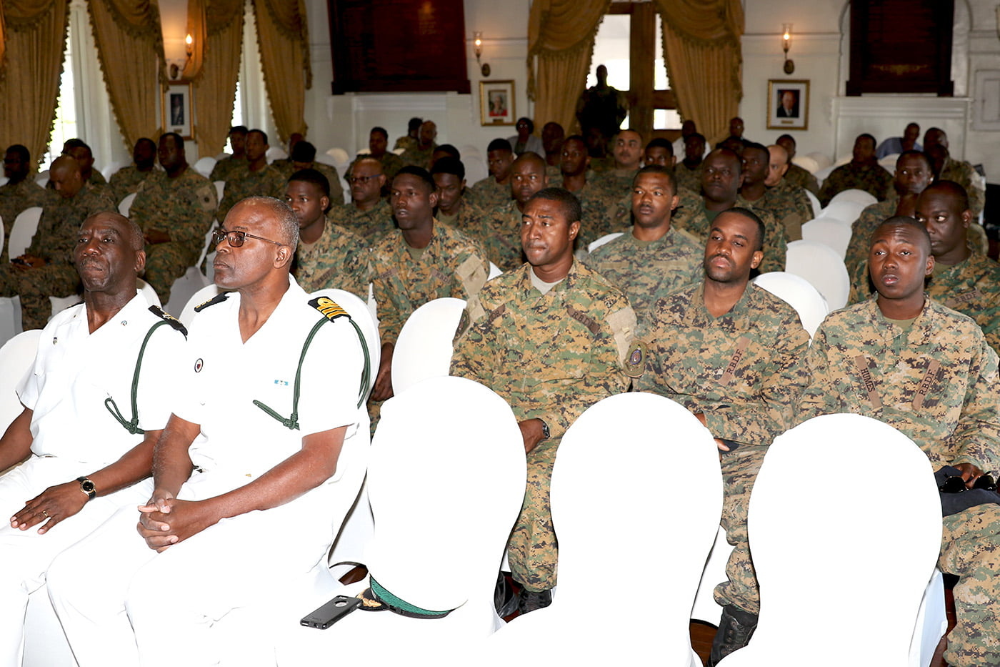 Prayer and healing service at Government House for RBDF Marines