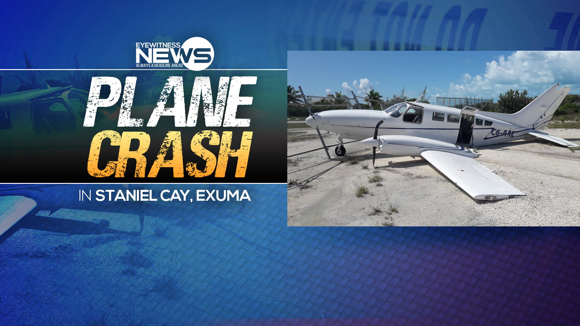 Plane with eight Americans on board skids off runway in Exuma