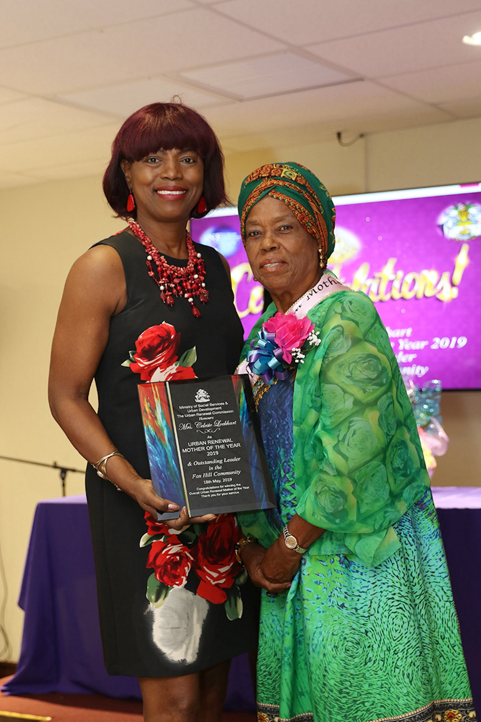 Mrs. Celeste Lockhart is Urban Renewal's 2019 Mother of the Year
