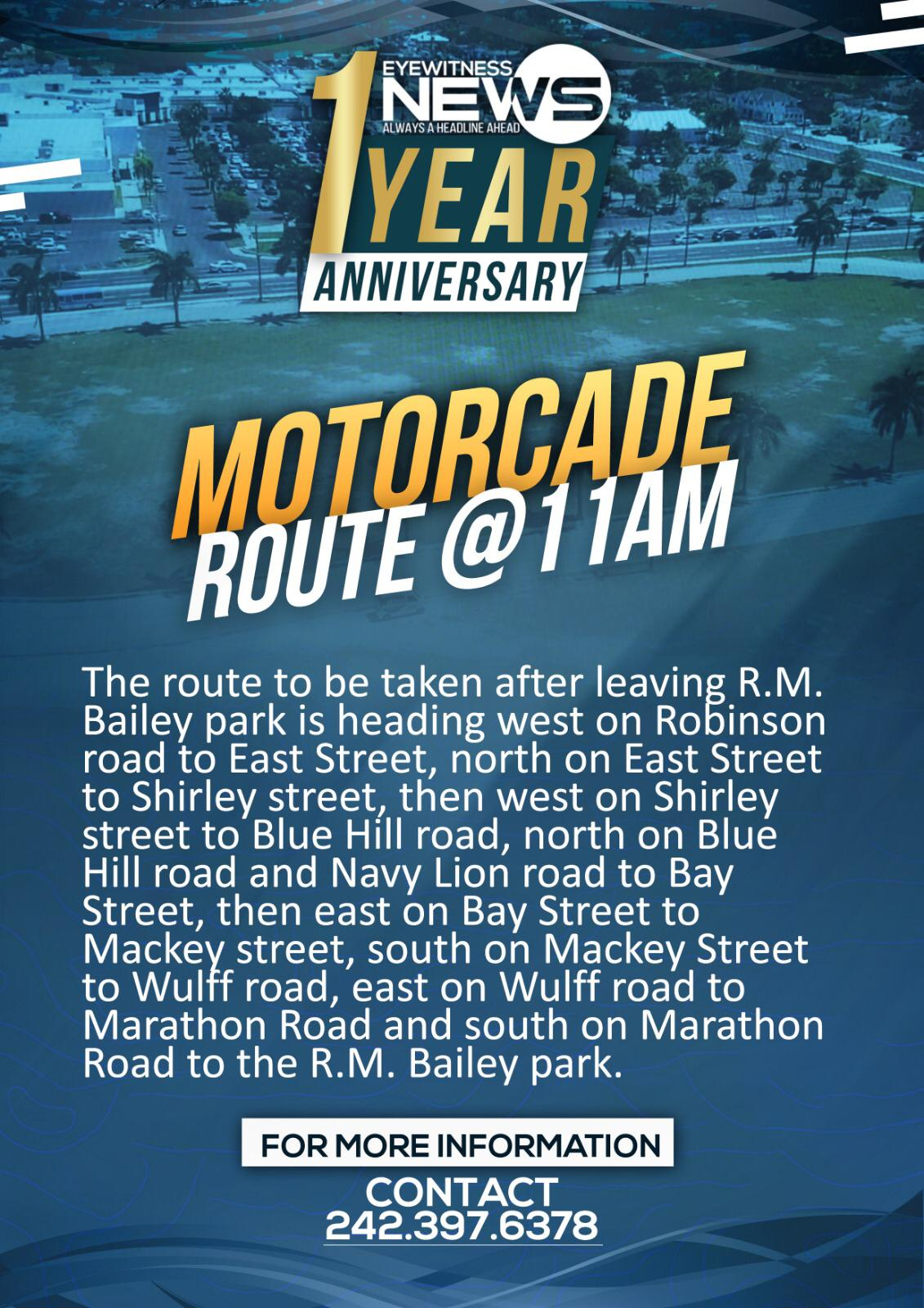 Eyewitness News motorcade route