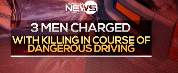 Men charged with killing in the course of dangerous driving