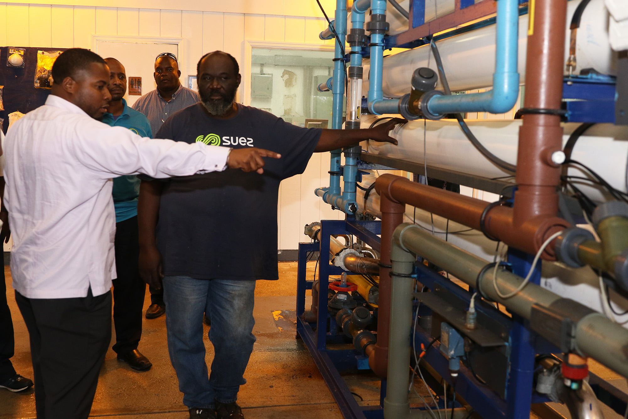 Chairman of the Water and Sewerage Corporation tours plants in Eleuthera