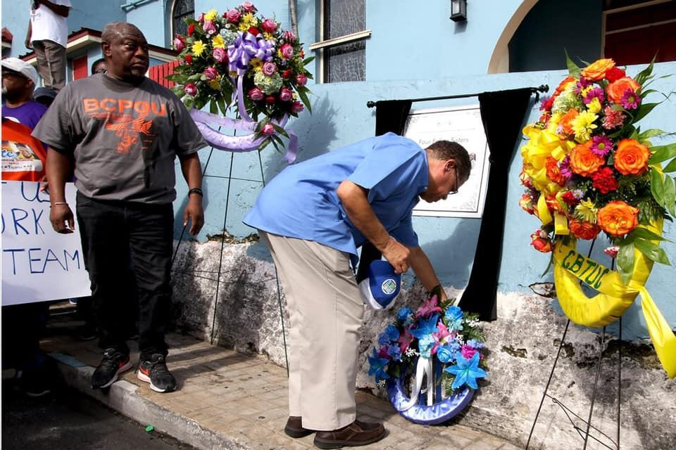 Wreath laying in memory of tragic Labour Day parade