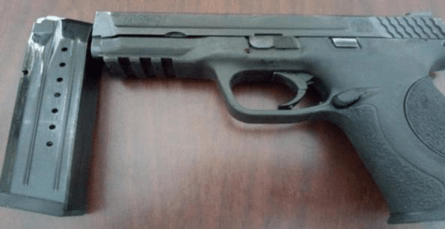 Illegal firearm recovered from bushy area on Finlayson St.