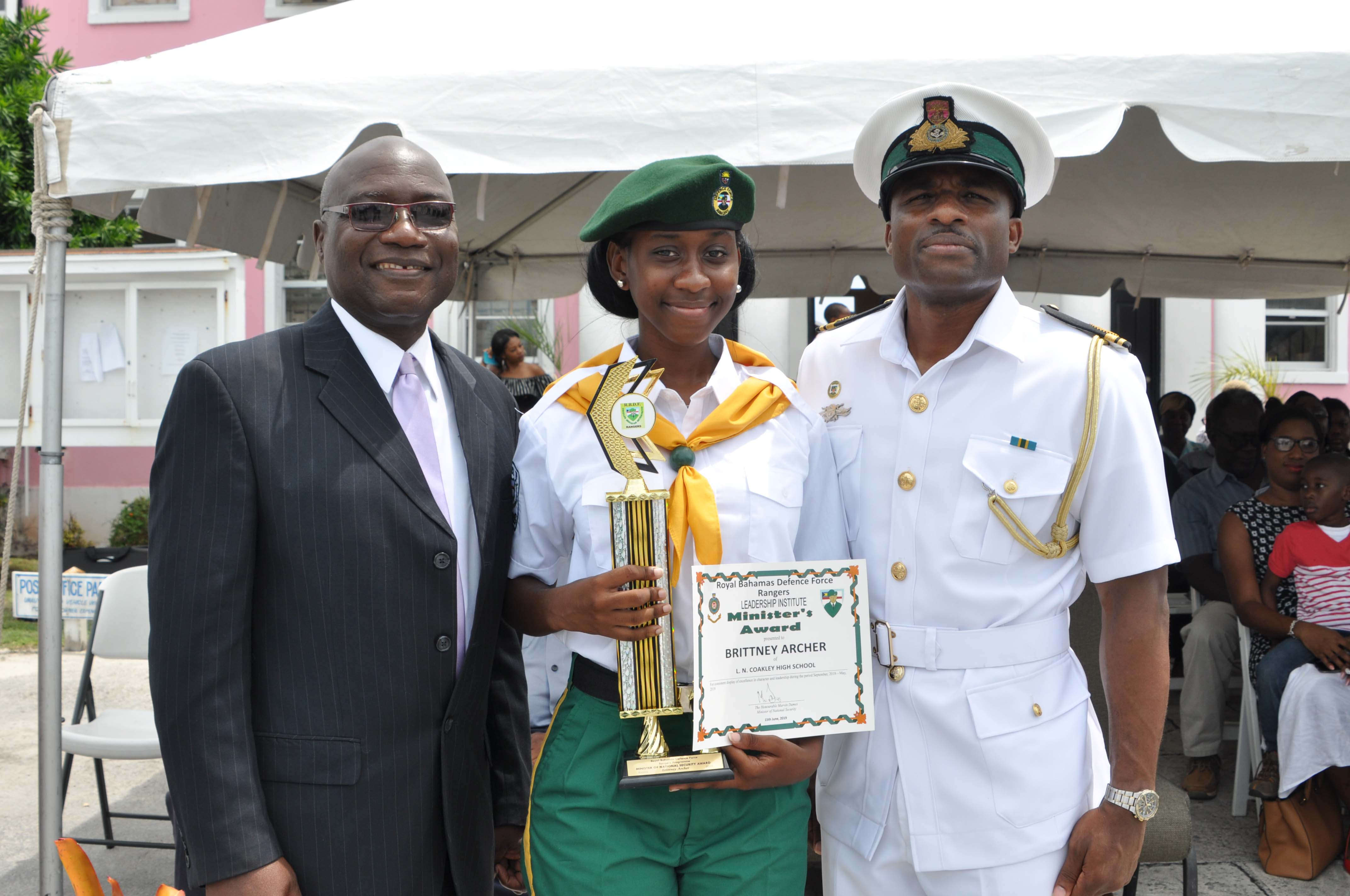 RBDF Rangers (Exuma) passing out parade