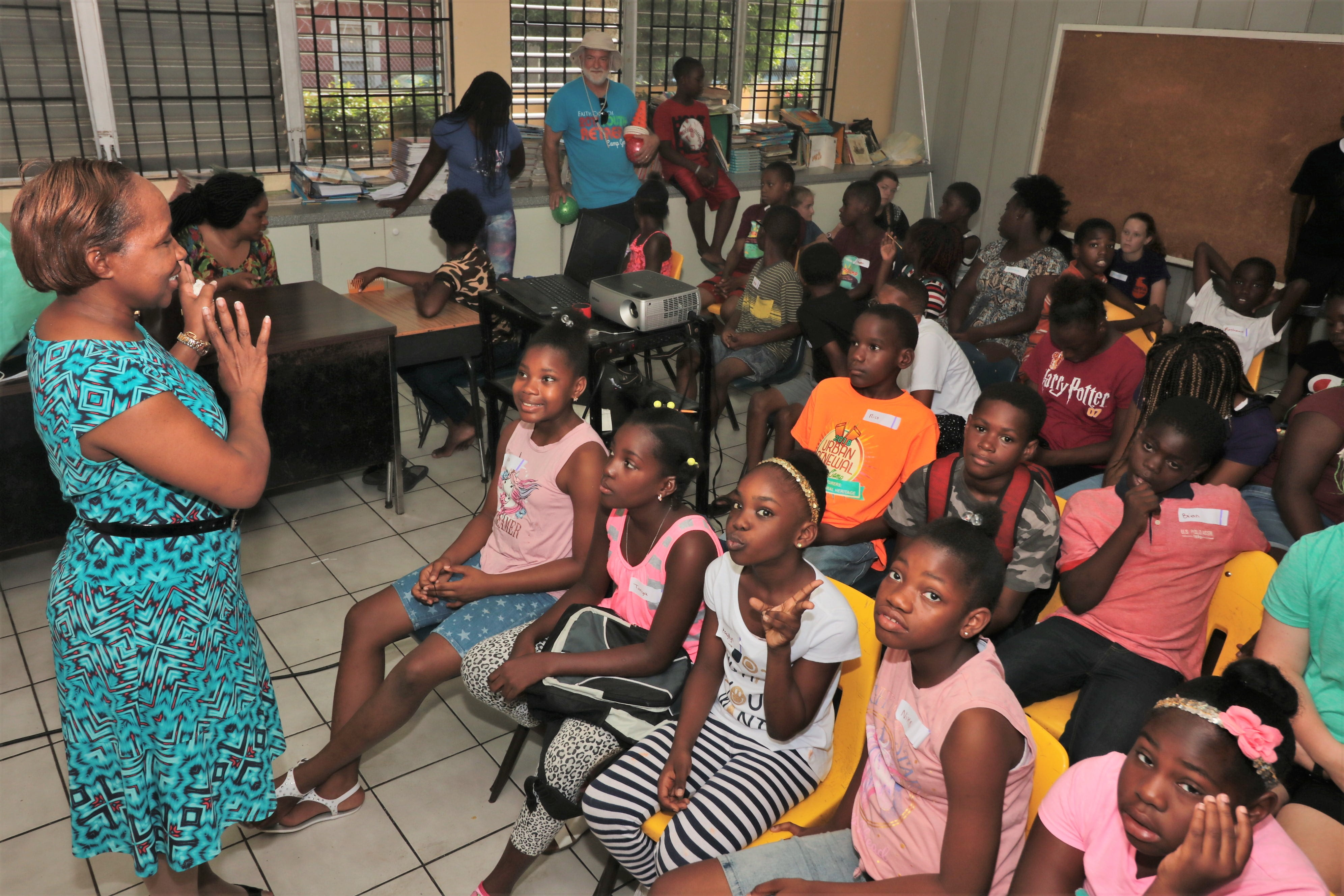 Urban Renewal summer camp participants get educated on the topic of trafficking in children