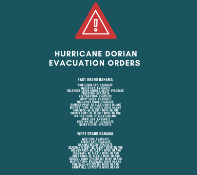 HURRICANE DORIAN EVACUATION ORDERS