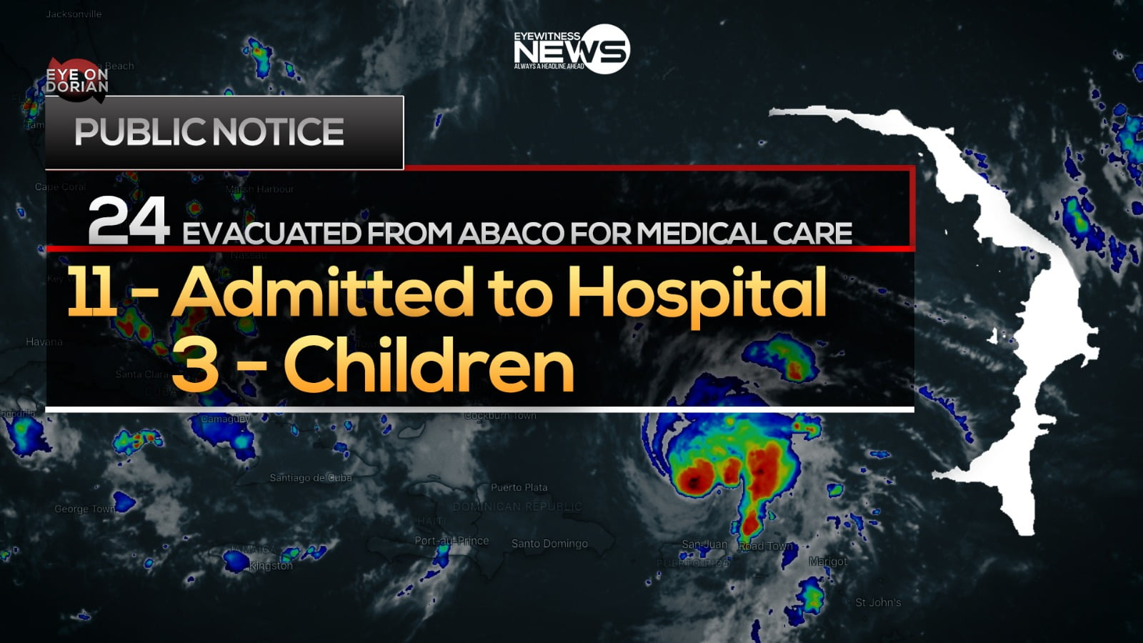 Twenty-four medical evacuees from Abaco at PMH