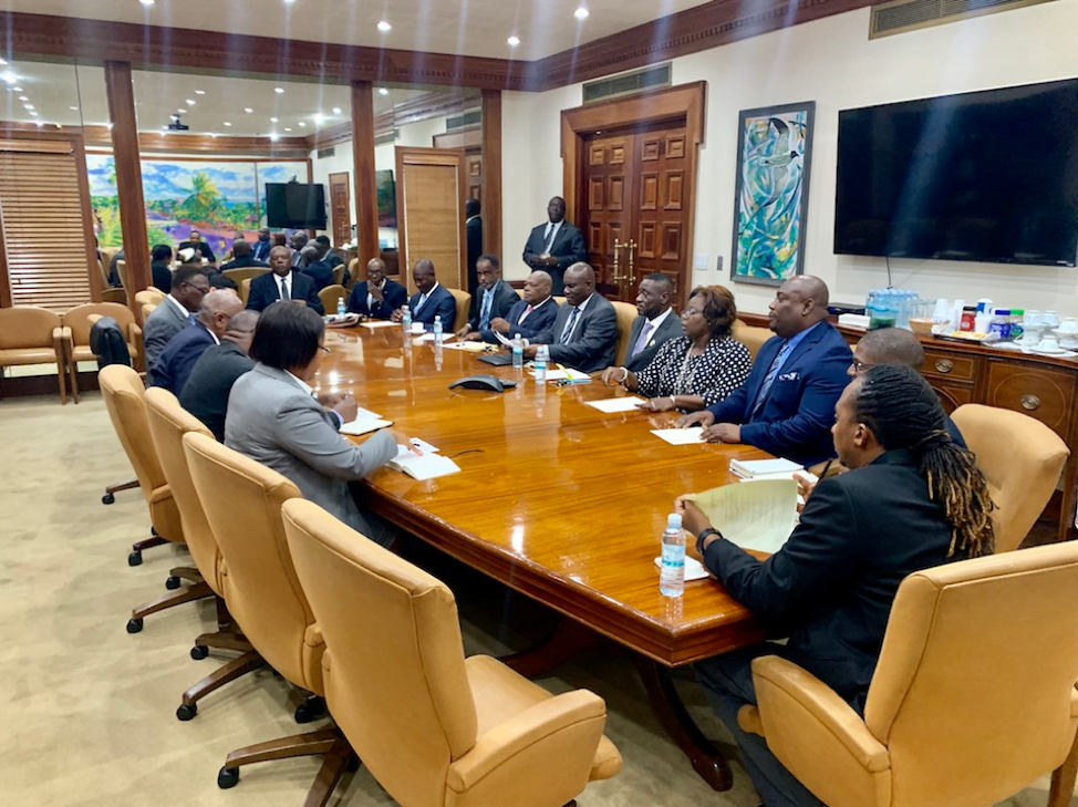 League of Haitian Churches Pays Courtesy Call on the Prime Minister