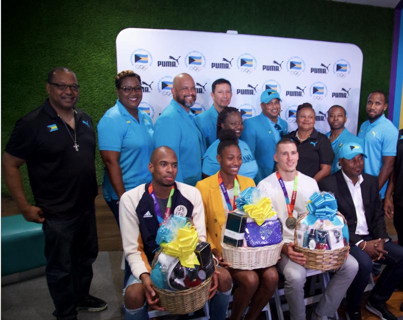 Gardiner, Miller-Uibo receive heroes welcome