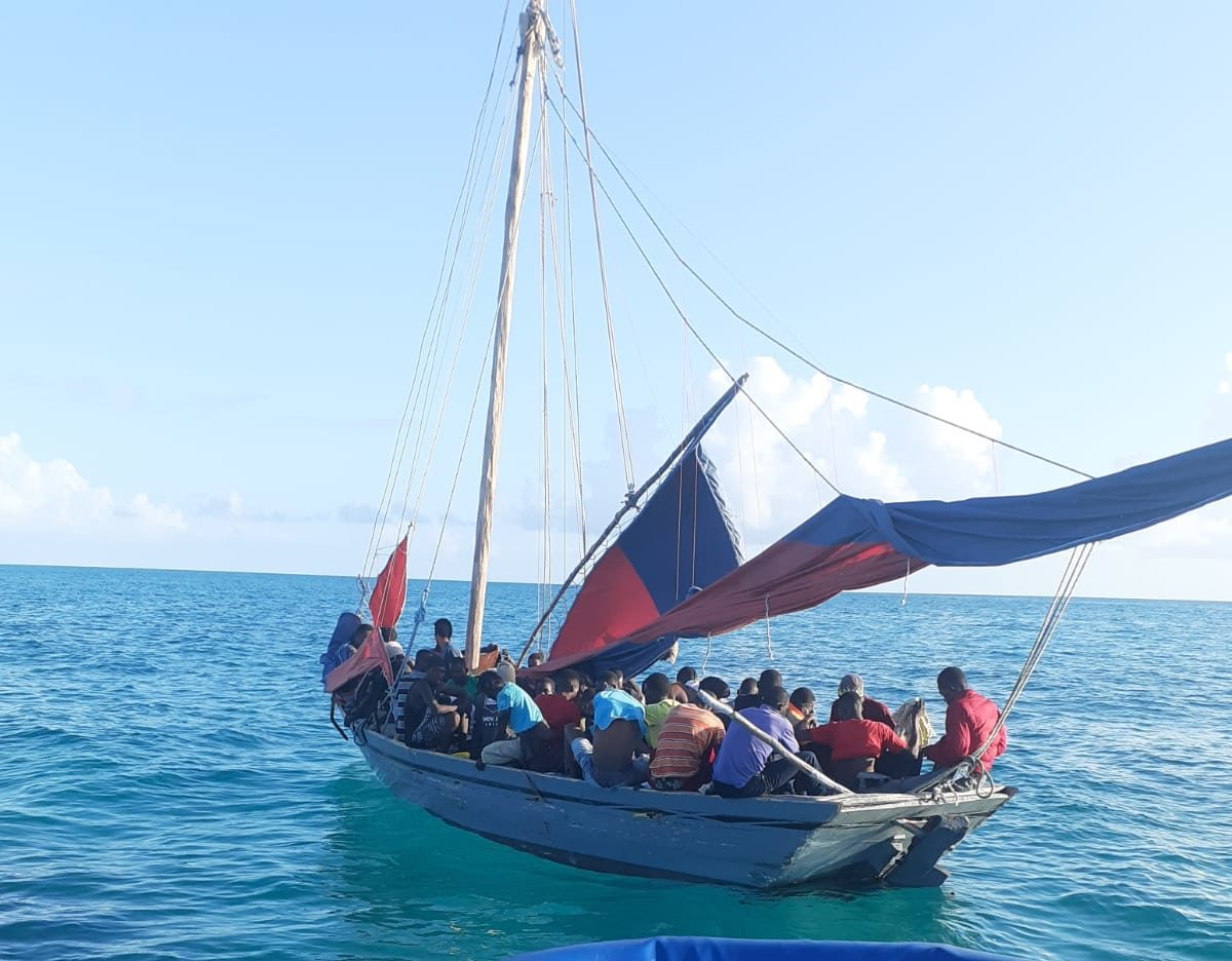 Police intercept vessel with 58 Haitians onboard