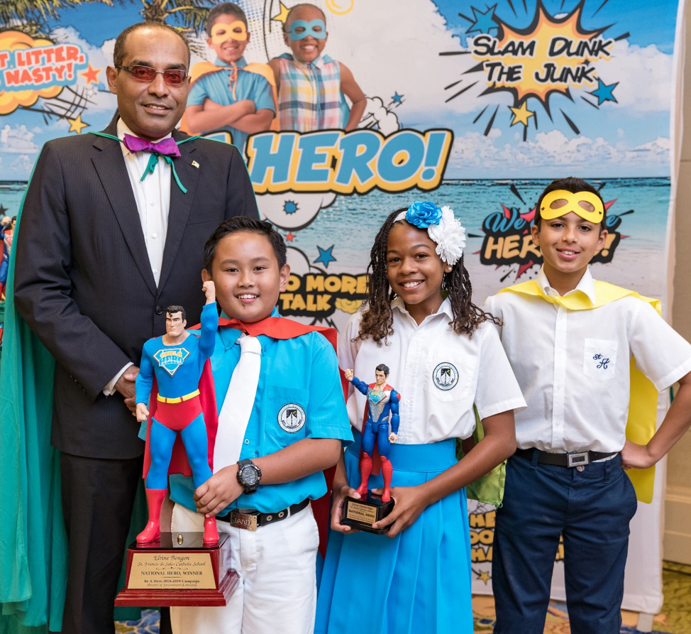 Adelaide Primary, St. Cecilia's students win Superman capes in Ministry of Environment hero campaign