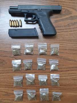 Police recover five illegal guns and suspected marijuana