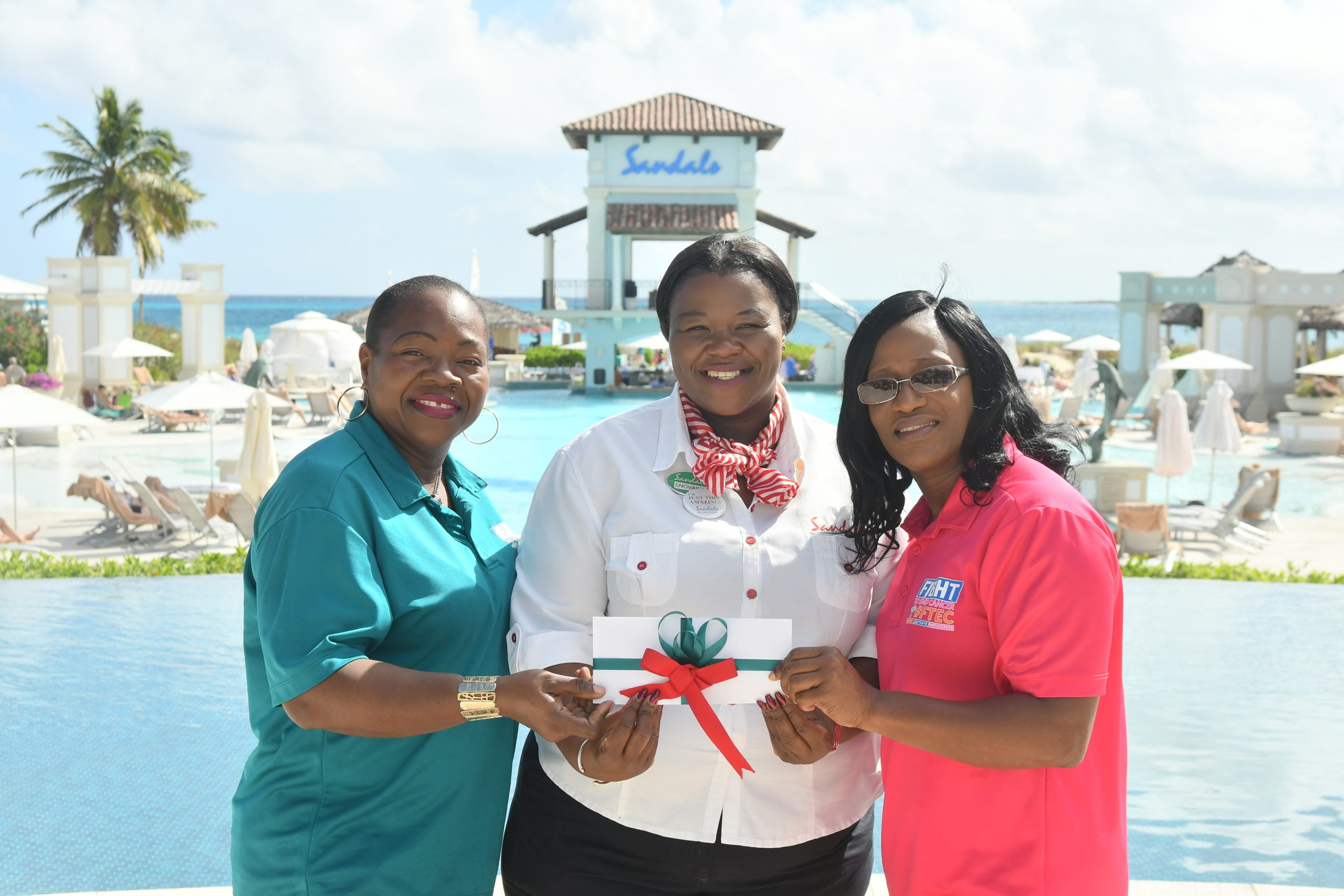 Sandals Emerald Bay Staff assisting The Exuma Cancer Society
