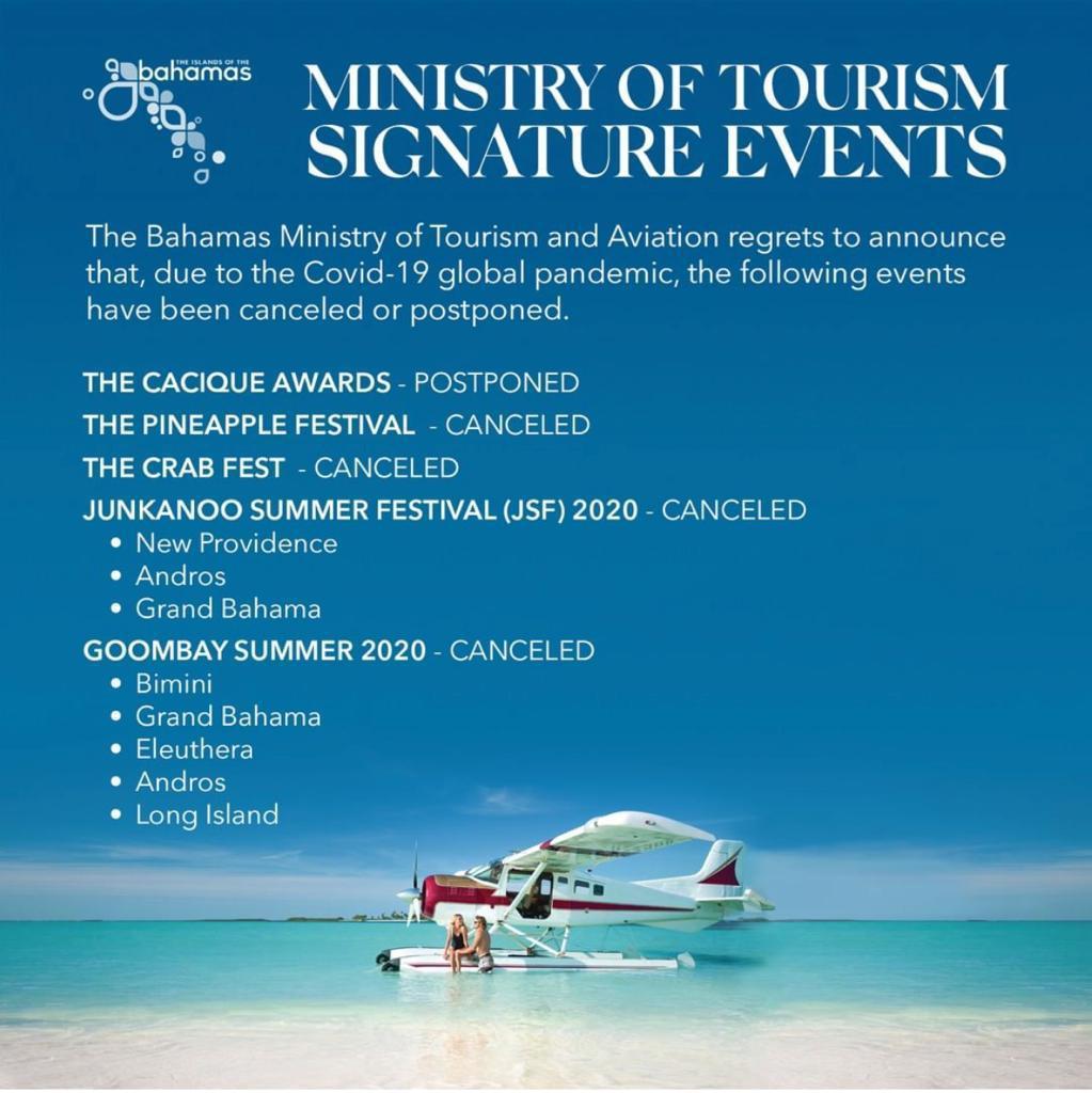 Ministry of Tourism cancels summer festivals for 2020