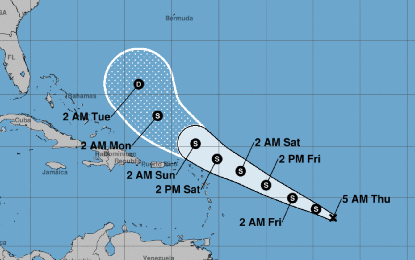 "Tropical depression ""disorganized"" but still forecasted to become named storm"