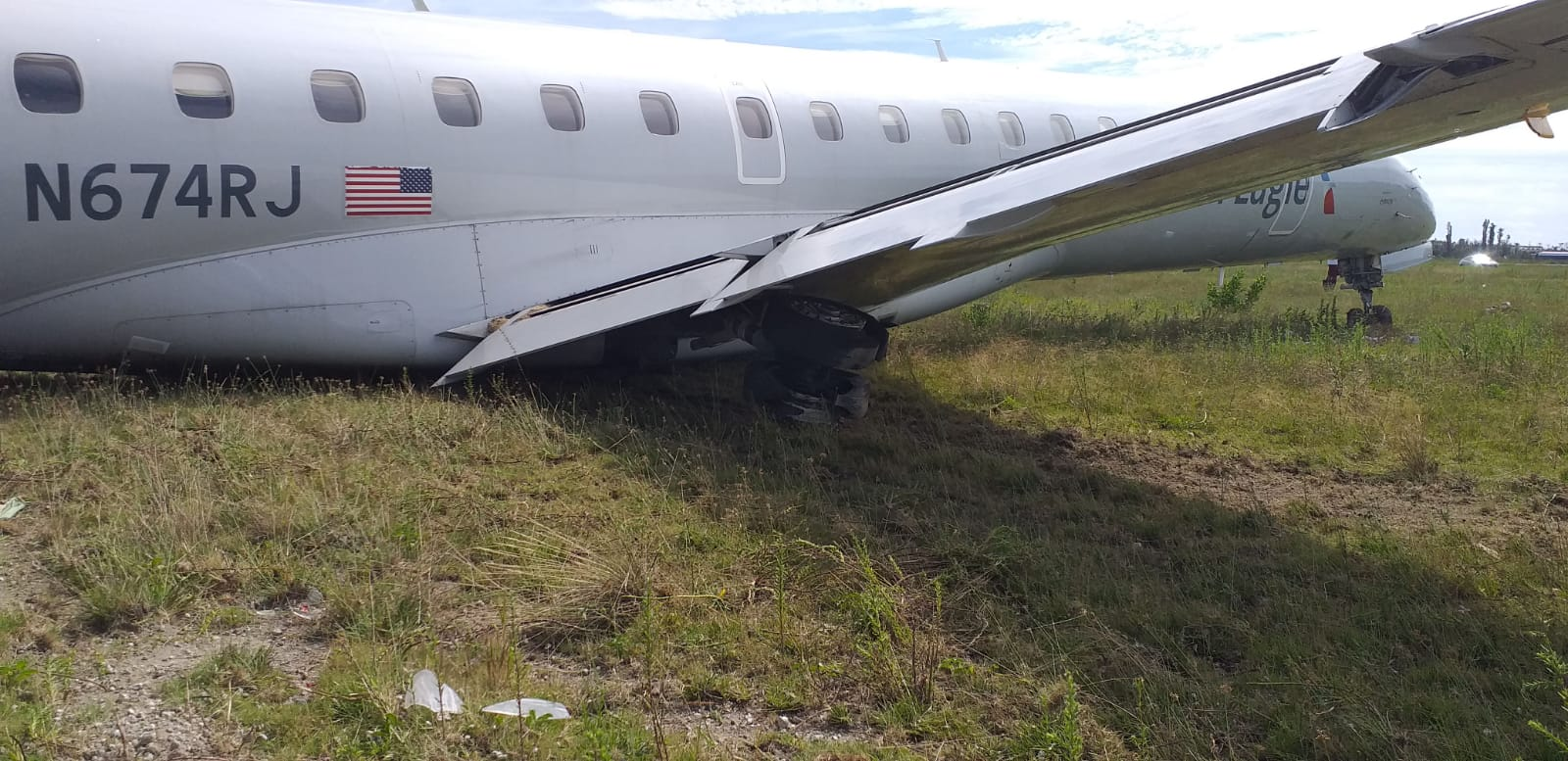 GB airport closed for two days after American Airlines plane skids off runway
