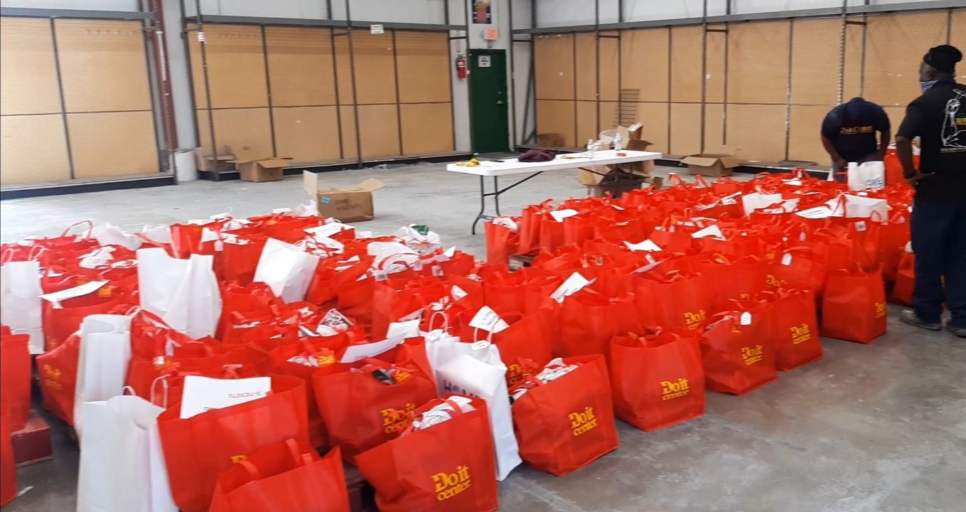 Island-wide Christmas hamper distribution on GB aids over 200 families