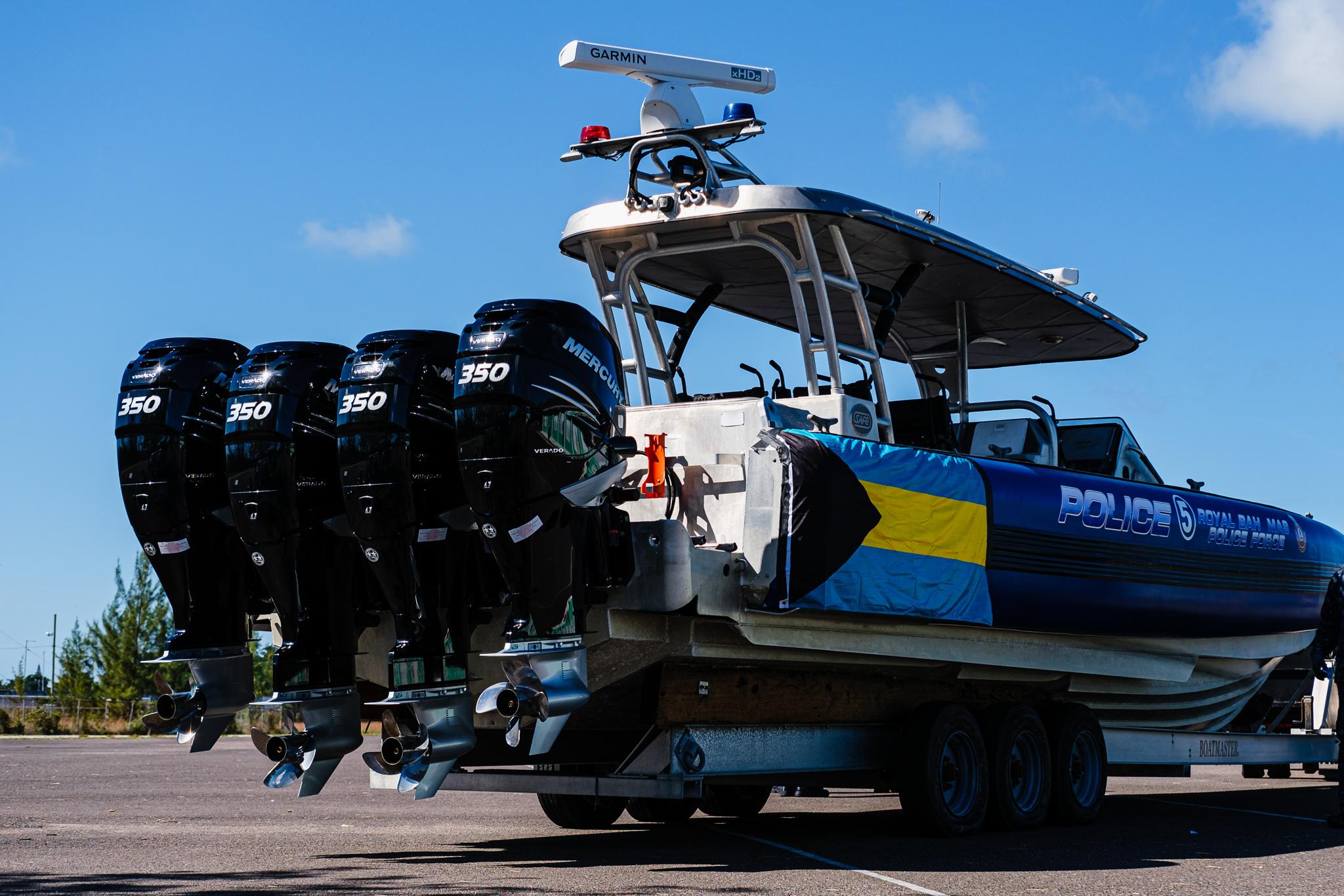 US donates six boat engines worth $168K to RBPF and Customs Marine Unit