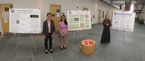 Katie, Lydia and Molly with their STEAM research posters at RPI