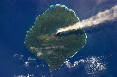 Steam Plume from Gaua Volcano